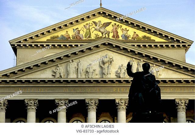 GERMANY, MUNICH, 02.10.2002, Bavarian state opera house in Munich. - MUNICH, GERMANY, 09/02/2005