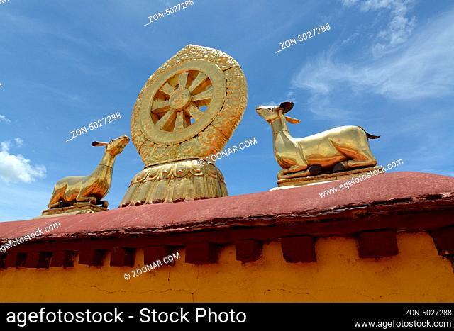 Landmark of the famous Potala Palace in Lhasa, Tibet