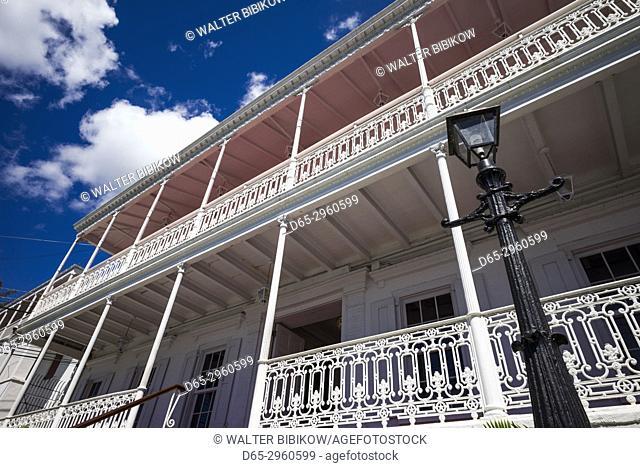 U. S. Virgin Islands, St. Thomas, Charlotte Amalie, Government House, detail
