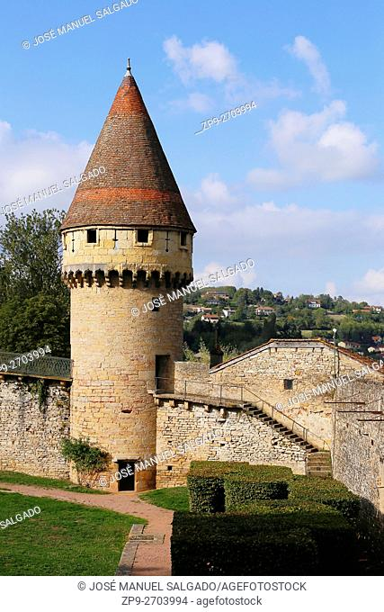 The Fabry Tower, at the walls of Cluny abbey, Burgundy, France