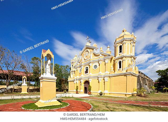 Philippines, Luzon island, Ilocos Sur, near Vigan, San Vicente church built in the style of earthquake baroque