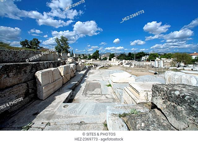 The Lesser Propylaea, Eleusis, Greece. A propylaea is any monumental gateway based on the original Propylaea that serves as the entrance to the Acropolis in...