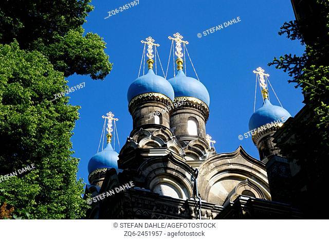 Russian Orthodox Church in Dresden, Saxony, Germany