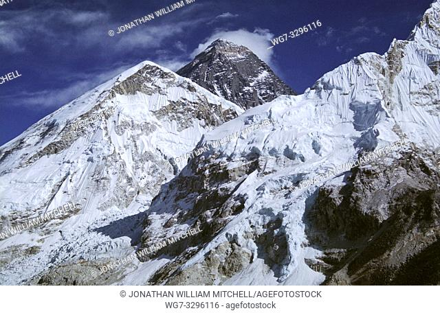 File image dated Dec 2005 of the summit of Mount Everest (centre) in Nepal. The 29th May is the anniversary of the first ascent of the mountain by a British...