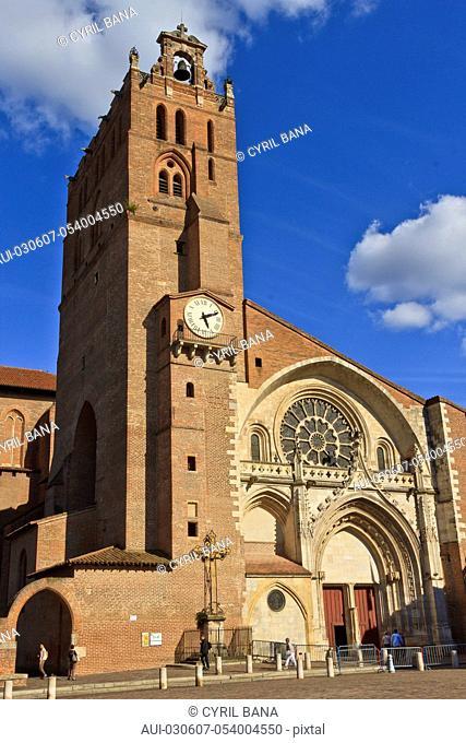 France, Toulouse, Saint Etienne Church, [west facade]