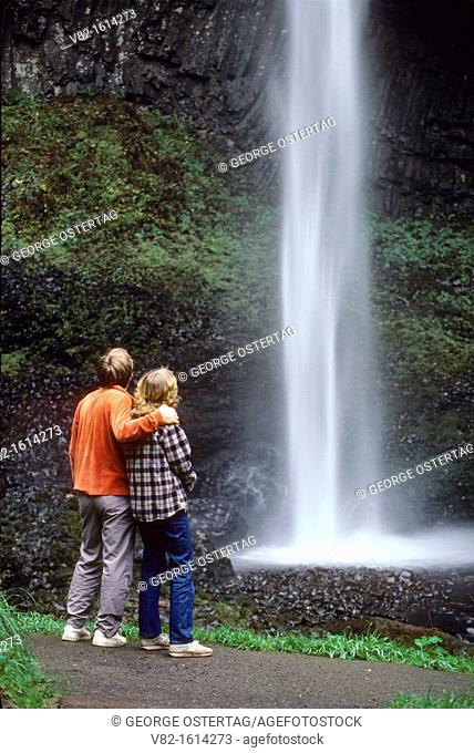 Latourell Falls, Talbot State Park, Columbia River Gorge National Scenic Area, Oregon