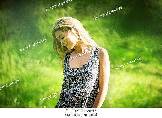 Young woman wearing sundress