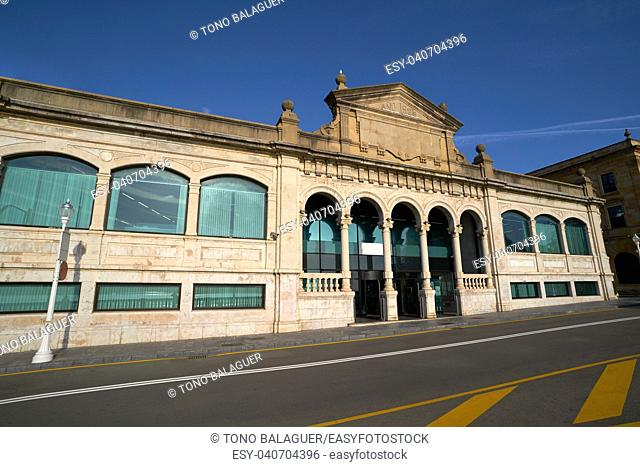 Gijon old fish market in Asturias Spain