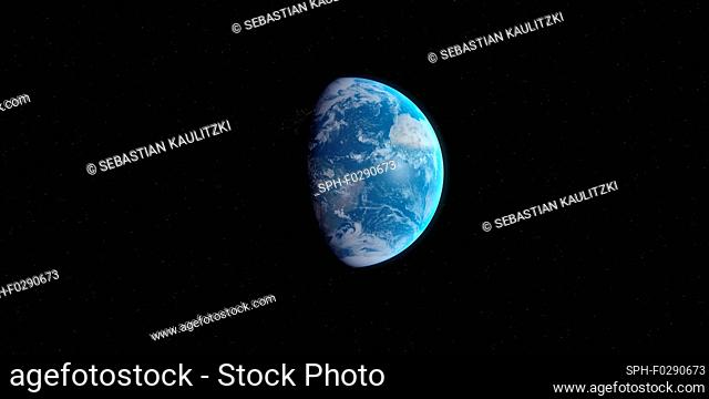 Earth from space, computer illustration