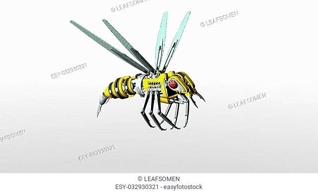 3d render of robot wasp
