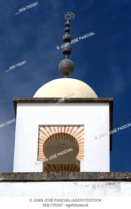 Minaret of modern mosque, Cordoba. Andalucia, Spain
