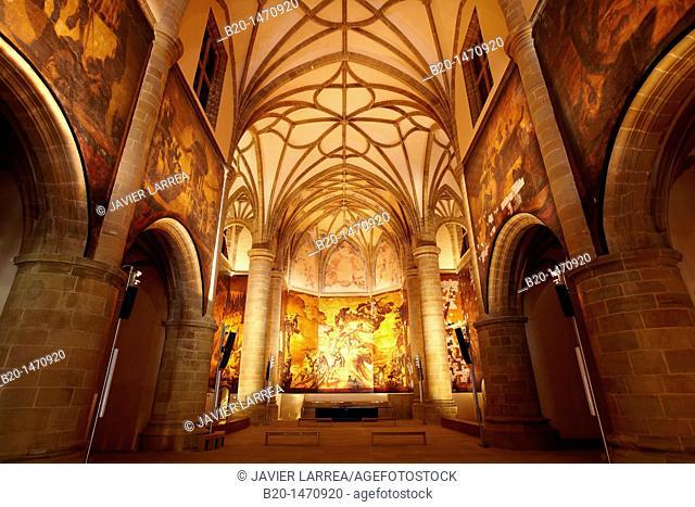 Paintings by Josep Maria Sert in the church of former Dominican convent (16th century), Museo San Telmo museum, San Sebastian, Gipuzkoa, Basque Country, Spain
