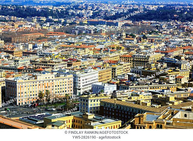 Rome skyline and city centre, Italy
