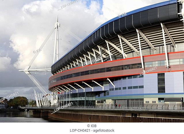 The Wales Millennium Stadium. The stadium is used primarily for rugby union and football home internationals but before the new Wembley Stadium was completed in...