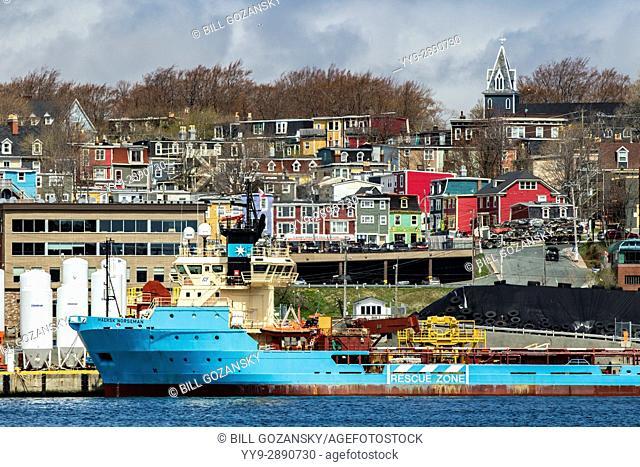 Colorful city of St. John's, Avalon Peninsula, Newfoundland, Canada
