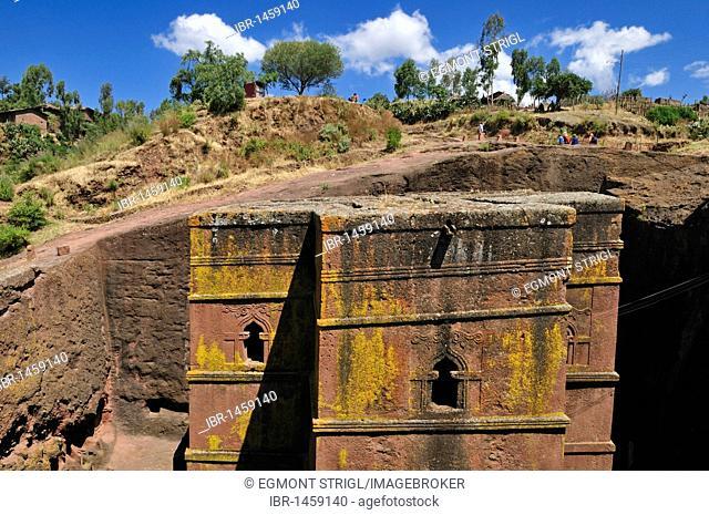Historic rock church Bet Giyorgis at Lalibela, UNESCO World Heritage Site, Amhara, Ethiopia, Africa