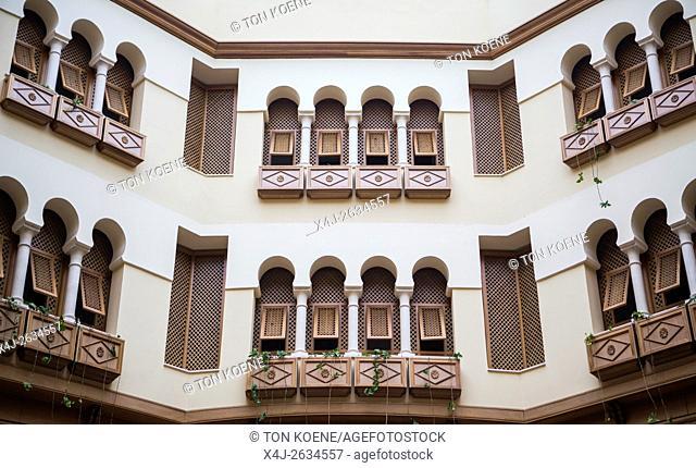 balcony at a traditional Tunisian house