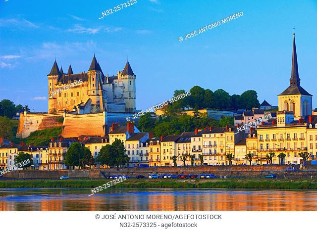 Saumur, Castle, Chateau de Saumur, Saumur Castle, Maine et Loire, Loire Valley, Loire River, Val de Loire, UNESCO World Heritage Site, France