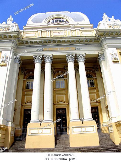 pernambuco historical building facade antique palace