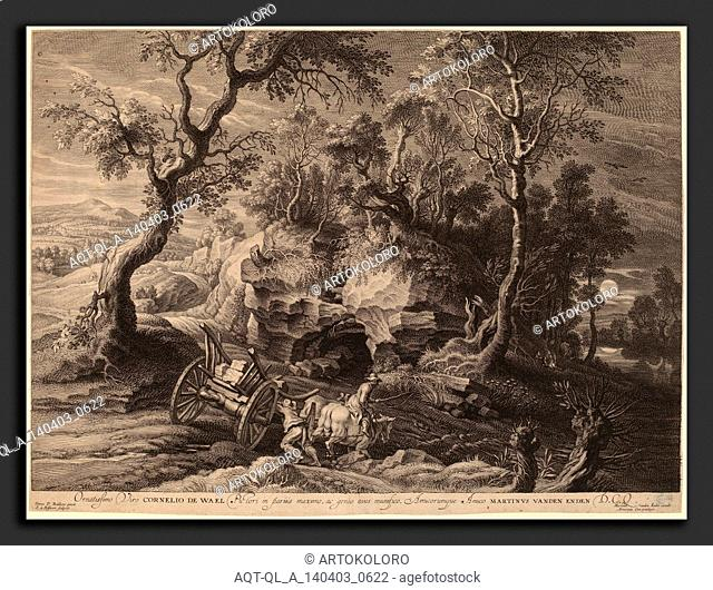 Schelte Adams Bolswert after Sir Peter Paul Rubens (Flemish, 1586 - 1659), Rocky Landscape, c. 1638, engraving with etching on laid paper