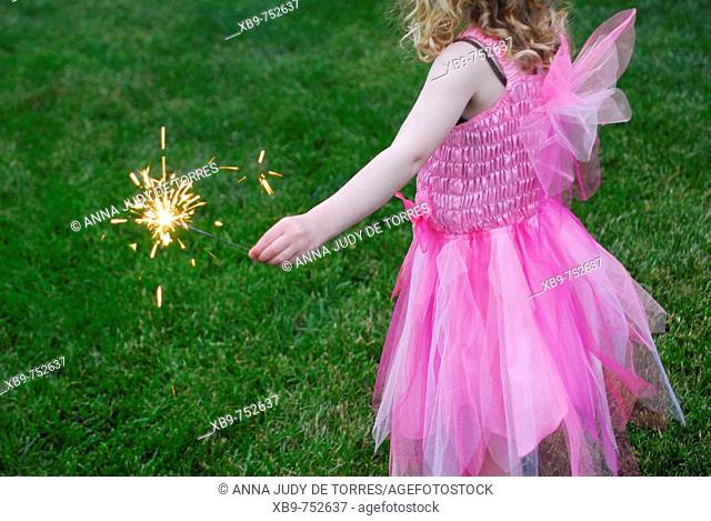 Little girl with sparkler