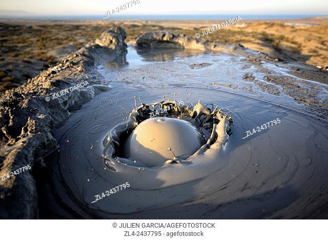 Azerbaijan, Qobustan, mud volcano