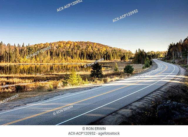 Highway 60 through Algonquin Provincial Park, Ontario, Canada