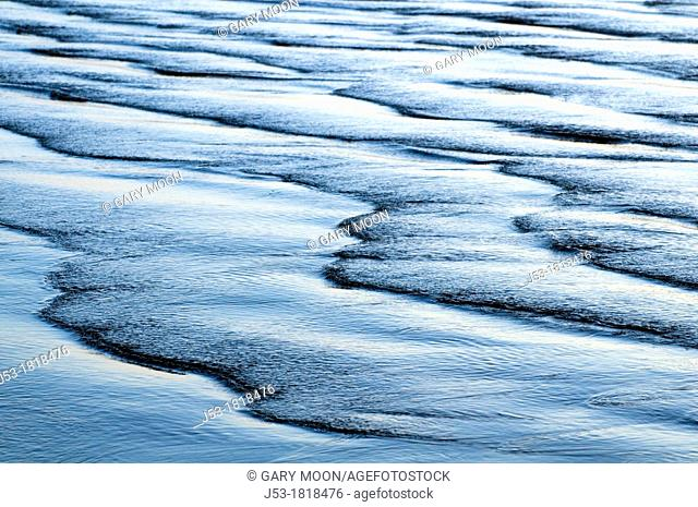 Beach abstract at sunset