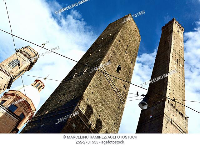The Two Towers, both of them leaning, are the symbol of Bologna. The taller one is called the Asinelli while the smaller but more leaning tower is called the...
