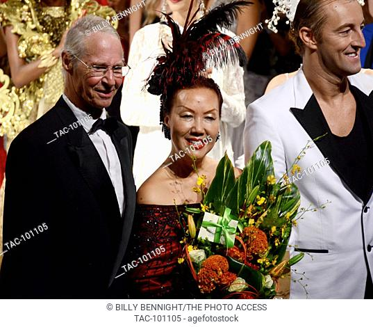 Sue Wong and Prince Mario-Max Schaumburg-Lippe at the Sue Wong 2016 Spring Collection at Taglyan Cultural Complex in Hiollywood October 5, 2015