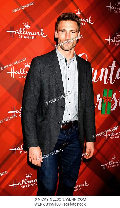 Hallmark's 'Christmas at Holly Lodge' screening at 189 The Grove Drive - Arrivals Featuring: Andrew Walker Where: Los Angeles, California