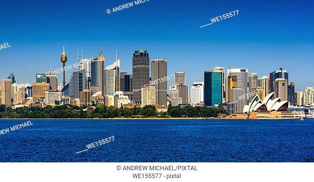 Panoramic skyline of Sydney cbd, New South Wales, Australia