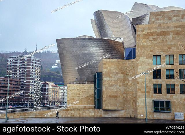 Guggenheim Museum in Bilbao, the largest city in Basque Country, Spain