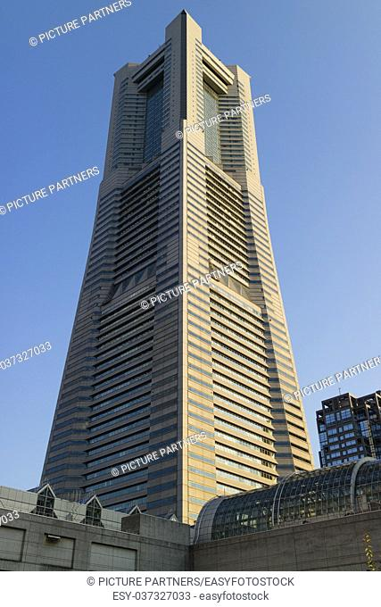 Yokohama Landmark Tower, second tallest skyscraper in Japan, in Minato mirai