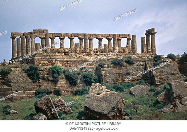 Temple of Hera Lacinia or Juno, or Temple D, Valley of the Temples of Agrigento (UNESCO World Heritage Site, 1997), Sicily, Italy
