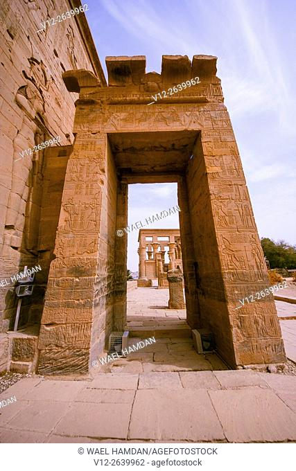 Temple of Isis in Philae, Aswan, Egypt