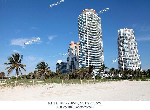 Big Buildings in Miami Beach, Florida, USA
