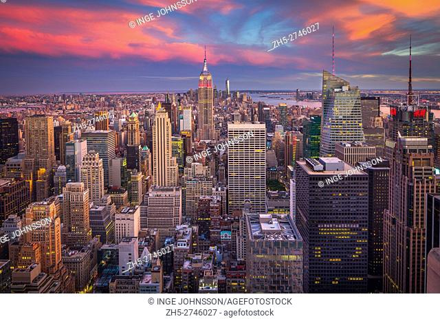Manhattan is the most densely populated of the five boroughs of New York City. The borough is coterminous with New York County, founded on November 1