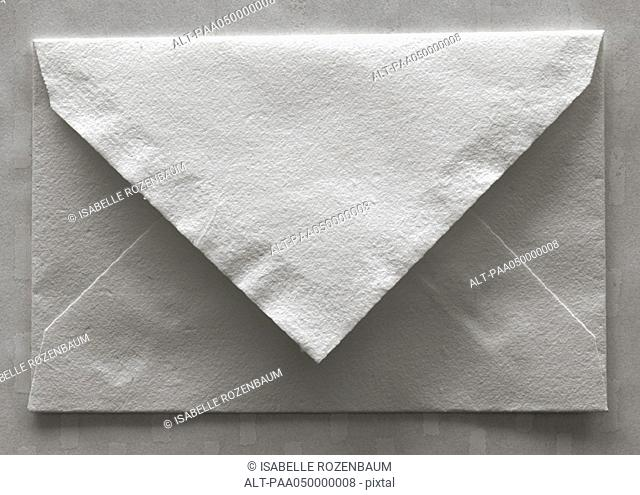 Envelope, rear view, close-up