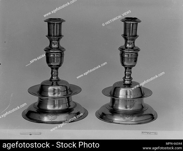 Candlestick. Date: 1630-70; Geography: Made in England; Medium: Brass; Dimensions: H. 10 1/2 in. (26.7 cm); Classification: Metal; Credit Line: Rogers Fund
