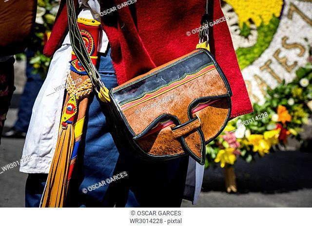 Detalle De Un Carriel, Desfile de Silleteros, Feria de las Flores, Medellin, Antioquia, Colombia