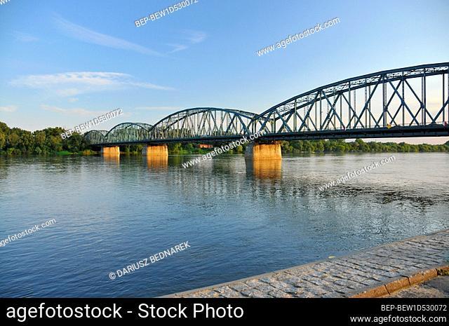 Pilsudski Bridge in Torun, Kuyavian-Pomeranian Voivodeship, Poland