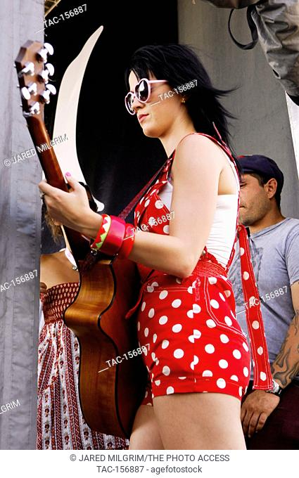 Katy Perry backstage at the 2008 Vans Warped Tour at the Pomona Fairgrounds in Pomona