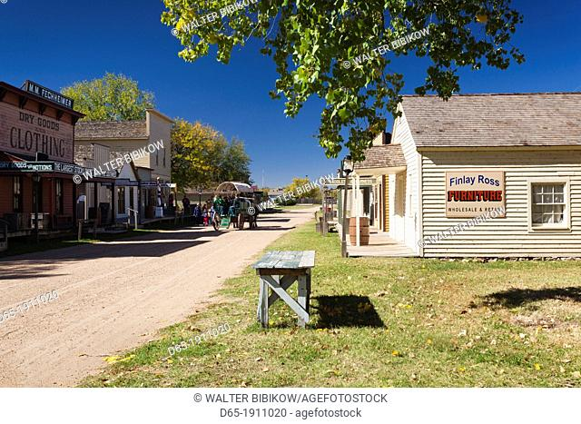 USA, Kansas, Wichita, Old Cowtown Museum, village from 1865-1880, buildings