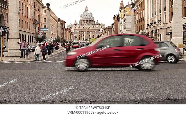 Saint Peter s square, Piazza San Pietro, Rome, Italy, Europe
