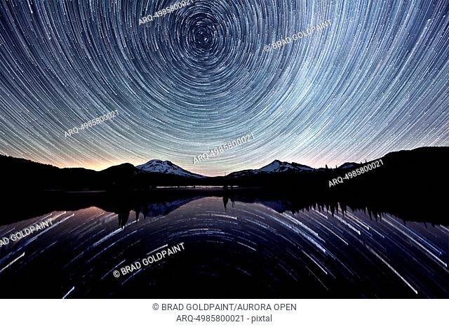 Star trails over Sparks Lake