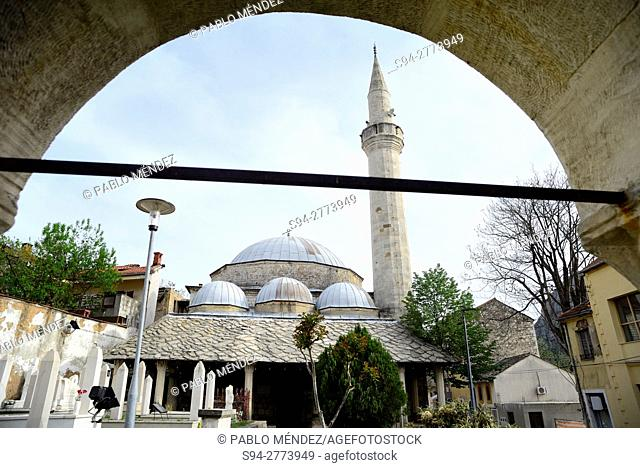Karadjoz Bey mosque in Mostar, Bosnia and Herzegovina