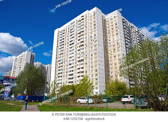 Residential block Ostankino district Moscow Russia Europe