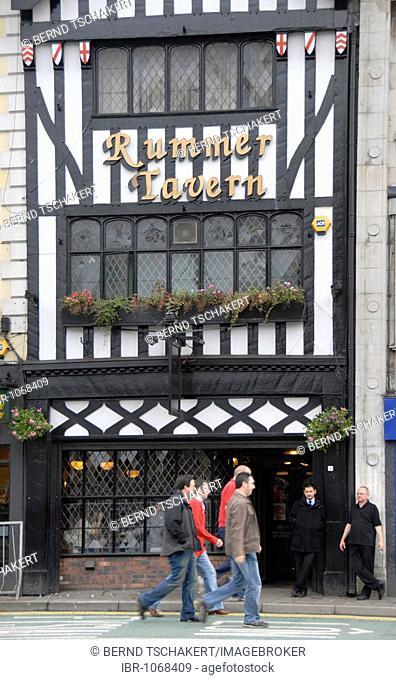 Rummer Tavern, pub, people, Cardiff, Wales, Great Britain, Europe
