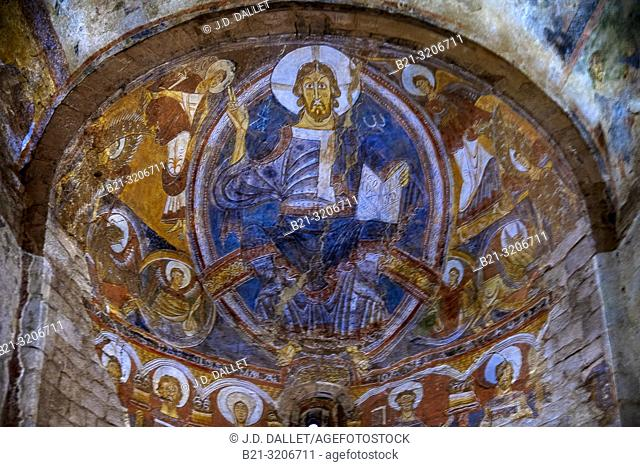 Spain, Catalonia, Jesus Pancreator at the Romanesque church of Sant Climent of Taull de Boi